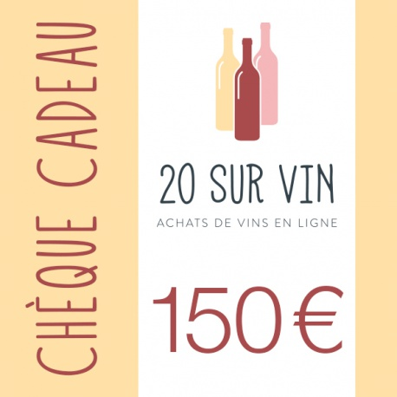 Chèque cadeau 150 EUR