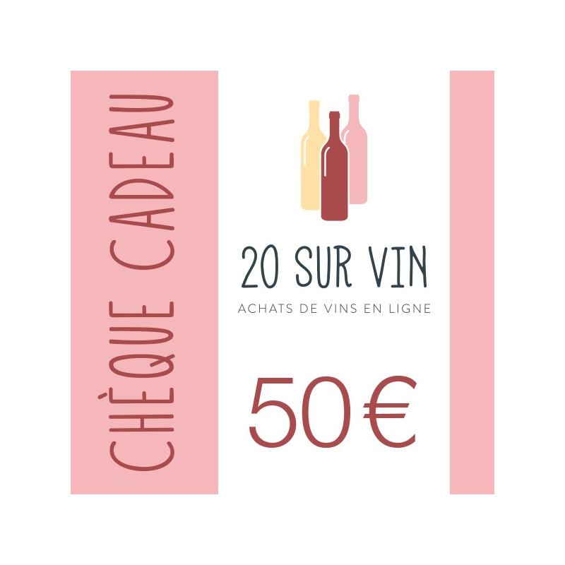 Chèque cadeau 50 EUR